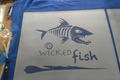 Wick Fish Glass Etching